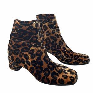 Not Bad Leopard Print Ankle Sock Booties SZ 7.5